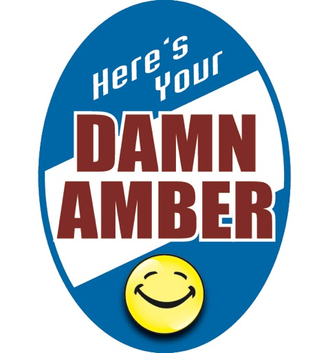 Damn Amber Beer Label